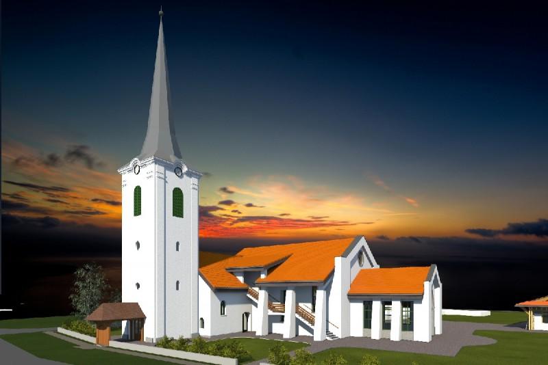 Mezőpaniti testvérgyülekezetünk új templomot épít