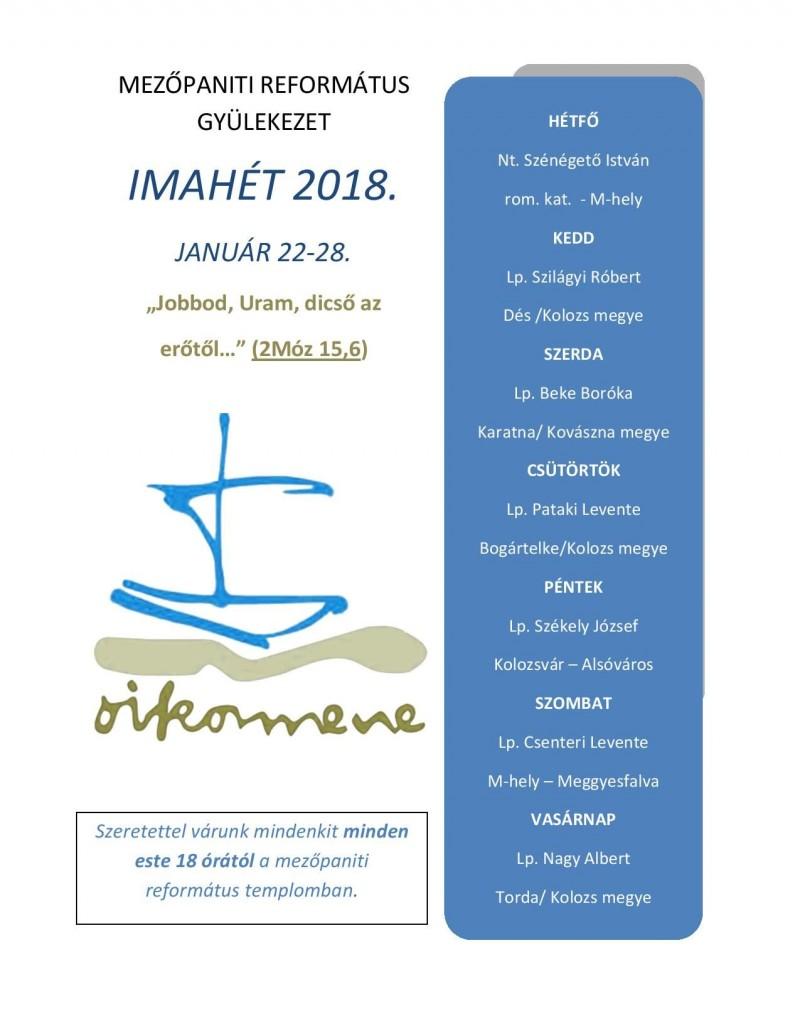 Imaheti program 2018